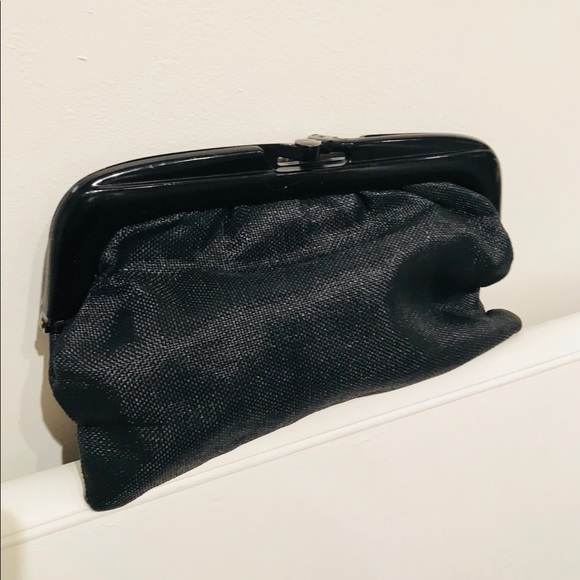 Vintage Bags   Black Woven Fabric Frame Clutch Bagpurse   Poshmark fc3c6599d5